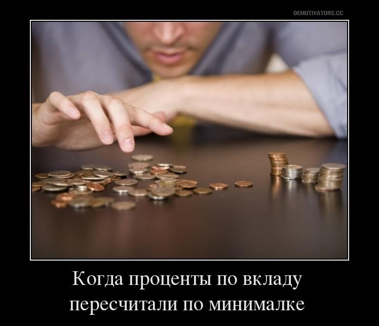 Минимальный доход по вкладу
