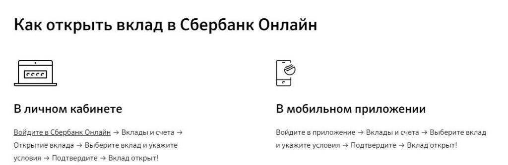 Как открыть вклад Онлайк