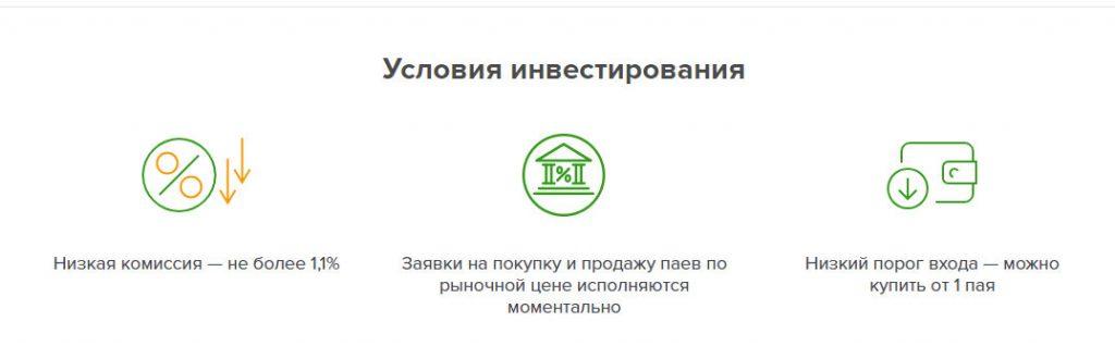 Параметры ПИФа SBMX
