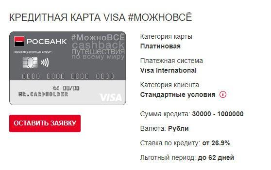 Кредитная карта Можно всё от Росбанка